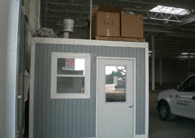 Shipping office painted gray (2)